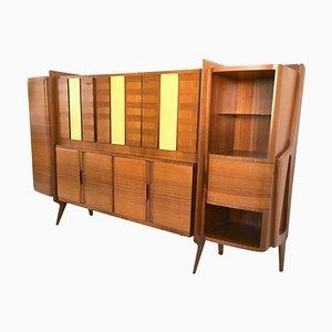 Mueble con paneles de pergamino de Gio Ponti, años 50