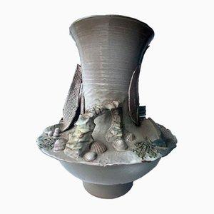 Große Studio-Keramikvase von David Weakes, 1970er Jahre