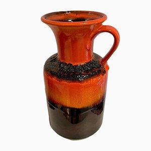 German Ceramic Lava Vase from Jazba, 1970s