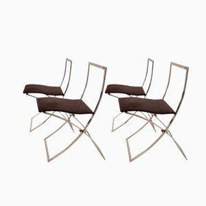 Chaises de Salon Pliables Luisa par Marcello Cuneo pour Mobel, 1970s, Set de 4