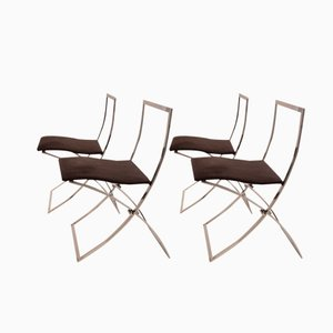 Foldable Luisa Dining Chairs by Marcello Cuneo for Mobel, 1970s, Set of 4