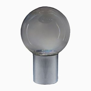 Lampada da Tavolo attribuita a Carlo Nason in Vetro Iridescente e Metallo, Italia, Anni '60
