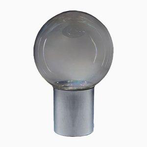 Tischlampe, die Carlo Nason in schillerndem Glas und Metall, Italien, 1960er Jahre, zugeschrieben wird