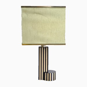 Brass and Bakelite Table Lamp in the style of Romeo Rega, 1970s