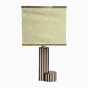 Lampe de Bureau en Laiton et Bakélite dans le style de Romeo Rega, 1970s