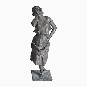 Bronze Female Sculpture, Neapolitan School La Paesana
