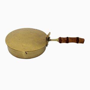 Austrian Bamboo & Brass Service Bowl, 1950s
