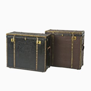 Antique Trunks from Benno Karschner, Set of 2
