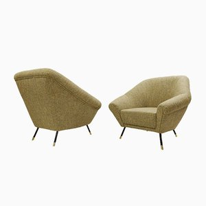 Armchairs with Chanel Upholstery, 1950s, Set of 2