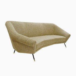 Italienisches Sofa mit Chanel-Polsterung, 1950er Jahre