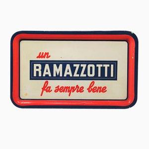Italienisches Vintage Ramazzotti Rechteckiges Bar Tablett