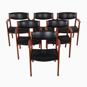 Teak Dining Chairs by Henning Kjærnulf for Sorø Stolefabrik, 1960s, Set of 6