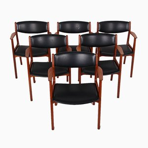 Teak Esszimmerstühle von Henning Kjærnulf für Sorø Stolefabrik, 1960er, 6er Set
