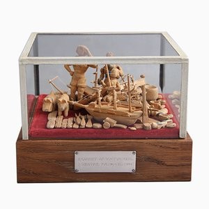 Victor Mehl, Handmade Wooden Figures, 1911-1944
