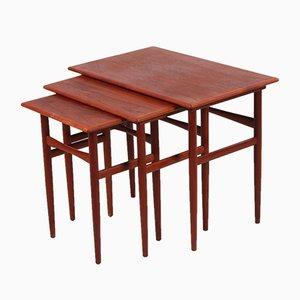 Tables d'Appoint en Teck de Dyrlund, Danemark, 1960s, Set de 2