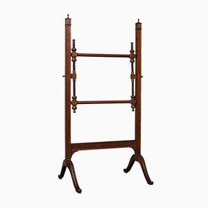 Antique English Mahogany Needlepoint Stretcher