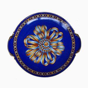 Porcelain Cocarde de soie Plate from Hermès, 1980s