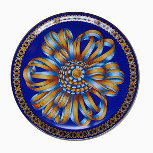 Silk Ribbon Porcelain Plate from Hermès, 1980s