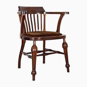 Antique English Mahogany Captain's Chair