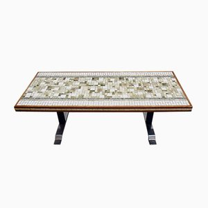 Long Coffee Table in Ceramic Mosaic, Italy, 1970s