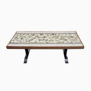 Table Basse Longue en Mosaïque de Céramique, Italie, 1970s
