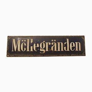 Plaque de Rue Émaillée, Suède, 1930s