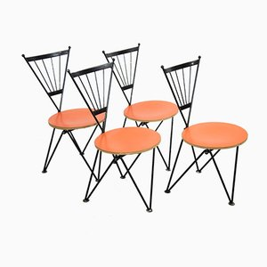 Dining Chairs by Josef Hoffmann for Bonaldo, 1980s, Set of 4