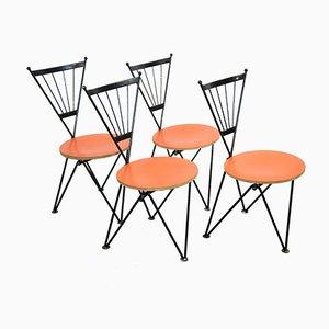 Esszimmerstühle von Josef Hoffmann für Bonaldo, 1980er, 4er Set