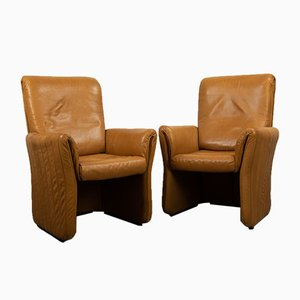 Leather Lounge Chairs by Tobia & Afra Scarpa, 1970s, Set of 2