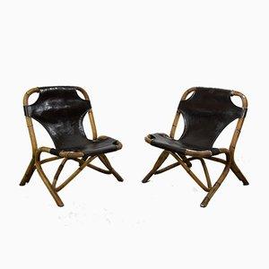 Gartenstühle aus Bambus, 1960er, 2er Set