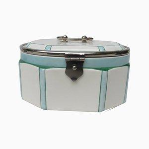 Vintage Art Deco Ceramic Pastry Box
