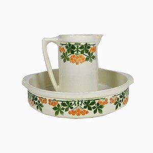 Antique Tableware Set from Keller & Guerin, France, Set of 2