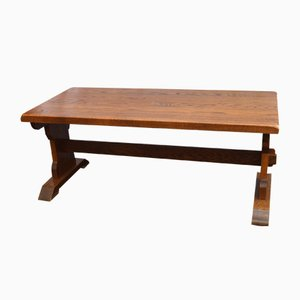 Thick Top Oak Refectory Table, 1930s