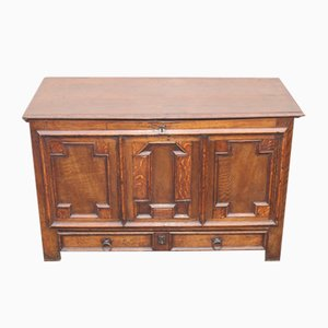 Oak Coffer with Drawer at Base, 1850s