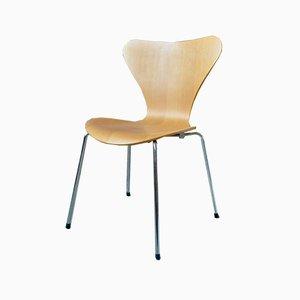 Sedia da pranzo modello 3017 Mid-Century di Arne Jacobsen per Fritz Hansen