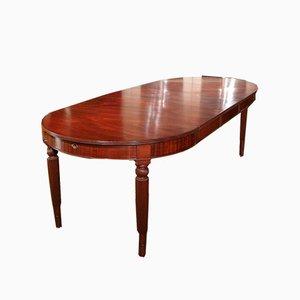 Table extensible ronde antique