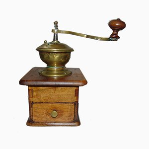 Pre-War Wooden Coffee and Pepper Grinder