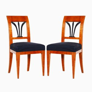 Czech Biedermeier Dining Chairs, 1820s, Set of 2