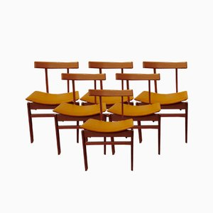 Teak Model 193 Dining Chairs by Inger Klingenberg for France & Søn / France & Daverkosen, 1960s, Set of 6