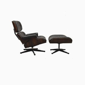 Sessel mit Fußhocker von Ray & Charles Eames für Herman Miller, 1960er, 2er Set