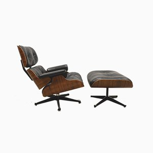 Lounge Chair with Ottoman by Ray & Charles Eames for Contura Herman Miller, 1960s, Set of 2