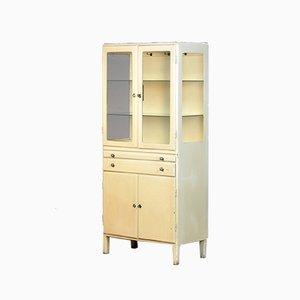 Mueble médico vintage de madera, años 50