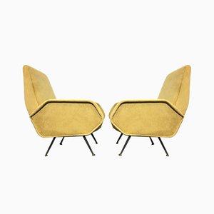 Italian Lounge Chairs by Marco Zanuso, 1950s, Set of 2