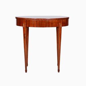 Kleiner ovaler Mahagoni Biedermeier Tisch, Frankreich, 1820er Jahre