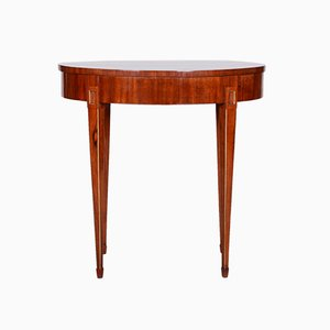 Small Mahogany Biedermeier Oval Table, France, 1820s