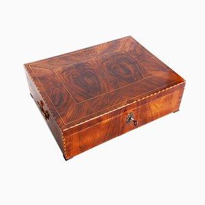 Early 19th Century Biedermeier Walnut Jewelry Box, Walnut, Germany, 1830s