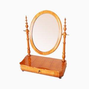 19th Century Czech Biedermeier Restored Cherry Mirror Dressing Table, 1860s