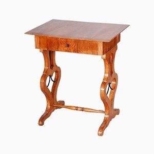 Small Czech Brown Ash Biedermeier Side Table, 1830s