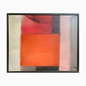 Oskar Kolb, Abstract Painting, 1975, Oil on Canvas