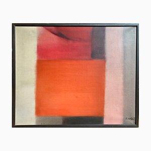 Oskar Kolb, Abstrakte Malerei, 1975, Öl auf Leinwand